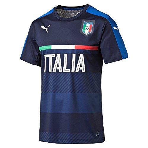 Puma FIGC Italia Training Jersey Maglietta, Blu, L
