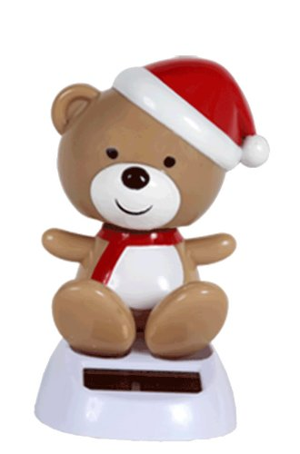 1 X Solar Powered Dancing Christmas Teddy Bear - 1