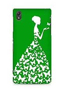 AMEZ designer printed 3d premium high quality back case cover for Sony Xperia Z2 (garden green white girl princess)