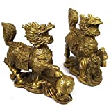 Large Qi lin of Protection Pair (brass)