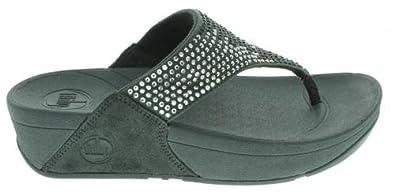 Women's Fit Flop, Flare Thong Sandal DARK GREY 11 M