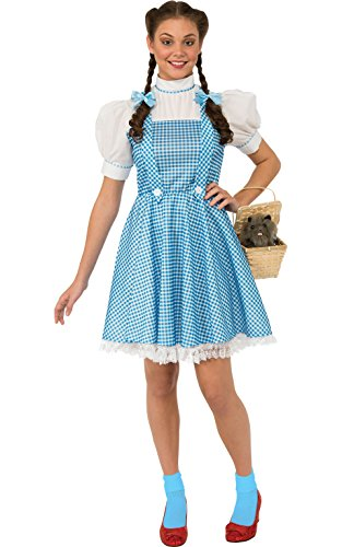 Rubie`s Costume Wizard Of Oz Adult Dorothy Dress and Hair Bows, Blue/White, Standard
