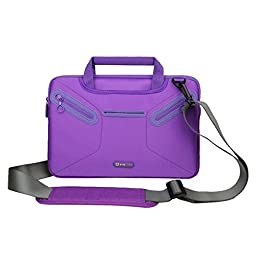 Evecase Surface Pro 3 / Surface Pro 4 Shoulder Bag, Multi-functional Fully Padded Neoprene Messenger Briefcase Case w/ Handle and Shoulder Strap for Microsoft Surface Pro 3 / Pro 4 Tablet - Purple