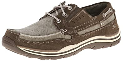 Skechers Men's Expected Pristine Relax Fit Oxford,Brown,6.5 M US