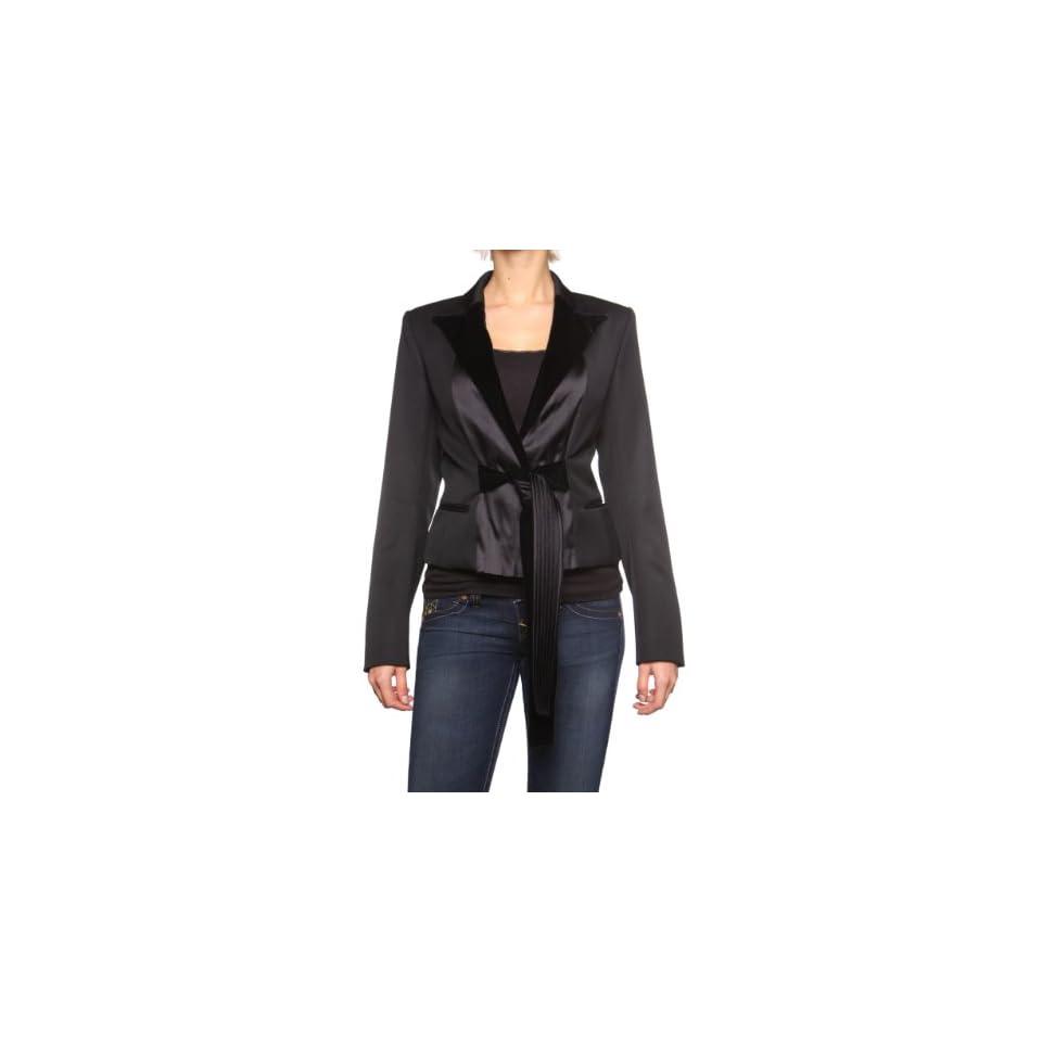 YSL Yves Saint Laurent Blazer Jacket BRANDY, Color Black, Size 40