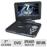 Sylvania SDVD7027, 7-Inch Portable DVD Player with Car Bag/Kit, Swivel Screen, USB/SD Card Reader (Black)