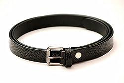 Tops 20mm Black Leather Belt