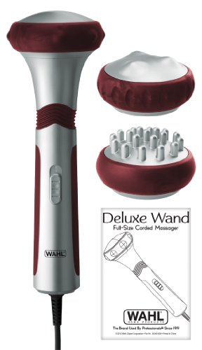 Wahl 4296 Deluxe Wand Full-size Therapeutic Massager, Color may vary