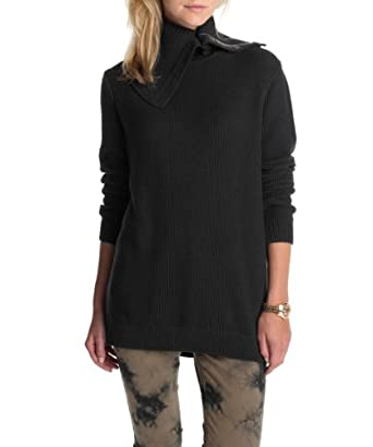 ESPRIT Women's Long - regular Sweater  - Black - Schwarz (001 black) - 8