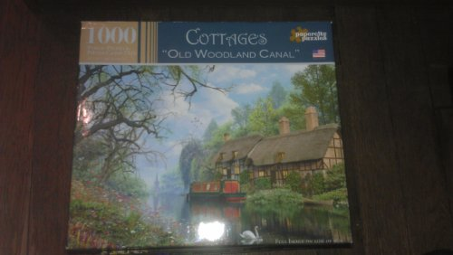 Cottages 1000 Piece Puzzle - Old Woodland Canal