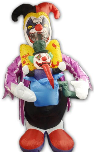Morbid Scary Creepy Clown Inflatable Halloween Party Decoration
