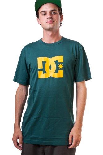 DC Shoes Star T-shirt da uomo a maniche corte Logo, Uomo, Cave Moss, XL