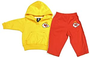 Kansas City Chiefs Infant Girls Sweatpants & Hooded Sweatshirt by NFL Team Apparel