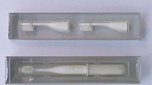 遊歩人 携帯 音波振動 歯ブラシ mix + 替えブラシ セット ≪ coconut x milk ≫ MIXーETー01SーWH