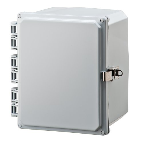 "Integra H10086Hll Premium Line Enclosure, Hinged, Locking Latch Cover, Opaque Cover, Mounting Feet, 10"" Height, 8"" Width, 6"" Depth"
