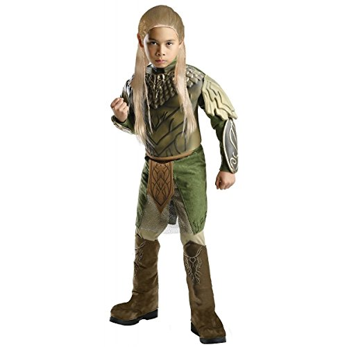 [GSG Deluxe Legolas Costume Kids Halloween Fancy Dress] (Legolas Halloween Costume)