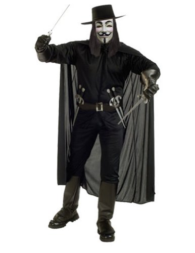 Adult V For Vendetta Costume Halloween Costume