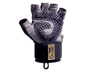 GoFit Diamond-Tac Weightlifting Wrist Wrap Glove and Training CD (Medium)
