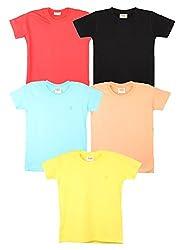 TONYBOY Boys Stylish T-Shirt (Combo Pack Of 5)