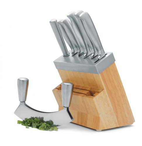 Master Class Acero Six Piece Set with Hachoir and Wood Block, Gift Boxed