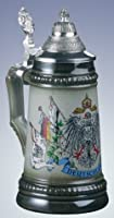 Zoeller & Born German Beer Stein with Germany Flags 0.125 Liter from Zoller & Born