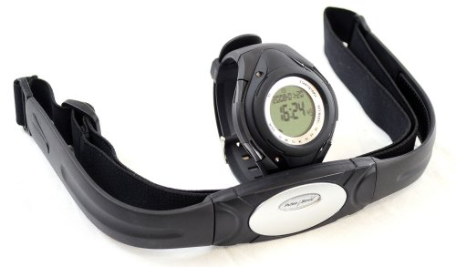 Cheap GSI Super Quality All-In-One Heart Rate Monitor Watch and Transmitter Chest Belt – For Exercise, Sports, Running, Jogging and All Outdoor Activities – Stopwatch, Chronograph and Alarm Functions (GK901D)