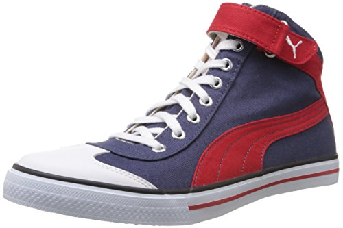 Puma Men's 917 Mid 2.0 Insign Blue, White and Hi Risk Red Mesh Boat Sneakers- 10UK/India (44.5EU)  available at amazon for Rs.1999