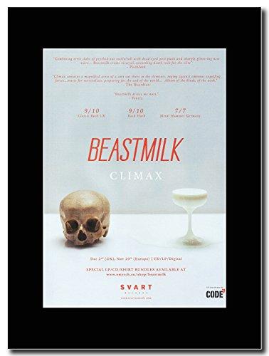 Climax-Beastmilk Magazine Promo su un supporto, colore: nero