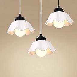 Winson Stylish design Elegant Vintage Style Pendant ceiling Light Shade Stylish Pendant LightsLed 3 , chandeliers disk head