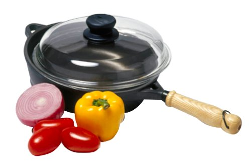 Berndes Tradition 9.5 Inch Deep Frypan With Glass Lid
