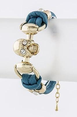 Trendy Fashion Skull Strap Bracelet By Fashion Destination by Fashion Destination