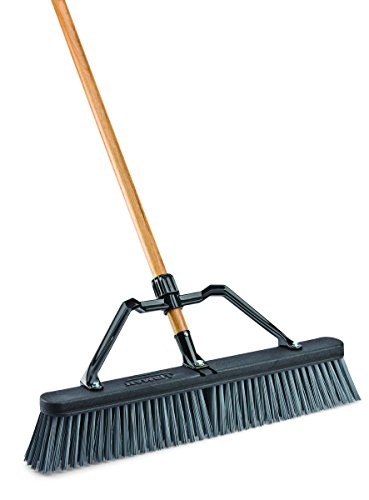 libman-commercial-829g-rough-surface-industrial-push-broom-with-brace-65-length-24-width-blackgreywood-pack-of-4