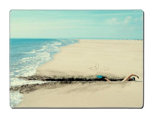 Humor Swimming Into The Sand Placemat Pads Customized Made To Order Support Ready 15 6/8 Inch (400Mm) X 11 13/16 Inch (300Mm) X 1/8 Inch (3Mm) High Quality Eco Friendly Cloth With Neoprene Rubber Luxlady Place Mouse Pad Desktop Mousepad Laptop Mousepads C front-1051405