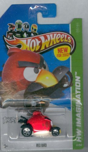 Hot Wheels New For 2012! HW Imagination ANGRY BIRDS RED Bird 1:64 scale