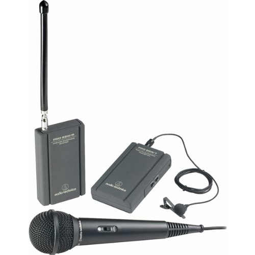 Brand New Audio-Technica Professional Vhf Wireless Lavaliere And Hand-Held Camcorder Microphone System