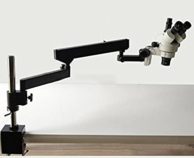 GOWE 3.5X-45X Zoom ARTICULATING ARM STEREO ZOOM MICROSCOPE+SZM0.5X AUXILIARY OBJECTIVE LENS Microscope Accessories