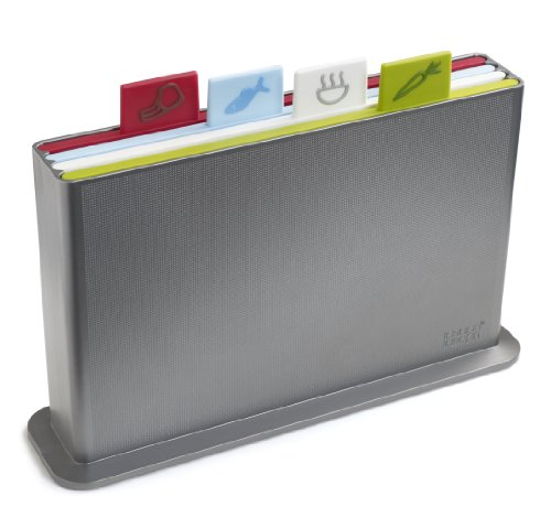 Joseph Joseph Index Advance Chopping Board Set, Silver, Small