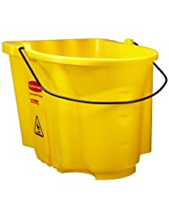 Rubbermaid Commercial FG757188 WaveBrake Bucket without Casters, 35 qt Capacity, 20.1 Length x 16 Width x 16 Height,... by Rubbermaid+Commercial