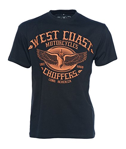 West Coast Choppers T-Shirt Wings Logo Tee, Farbe:black;Größe:XL