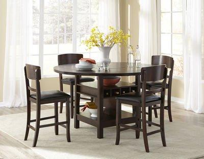 New Hampton Dark Walnut Folding Leaf Gathering Table