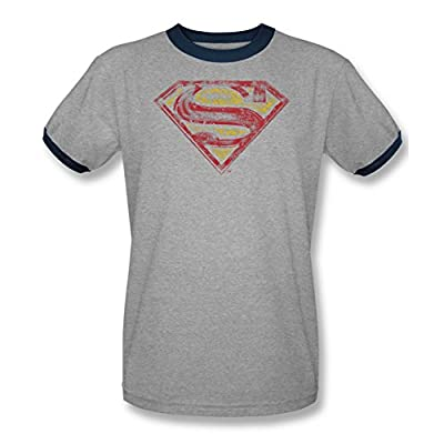 Superman Vintage S Shield Ringer T-Shirt