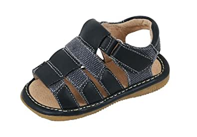 Squeak Me Shoes Outback Boys Toddler Sandal Size 3 - Navy