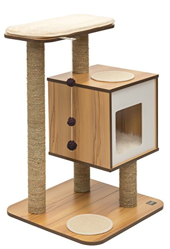 Vesper Cat Furniture, Walnut, V-Base