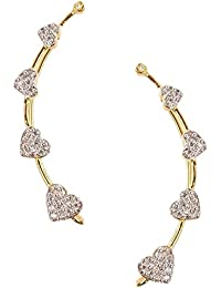 RZ Oddish Golden Alloy Ear Cuff For Women - B01MCQCQA8