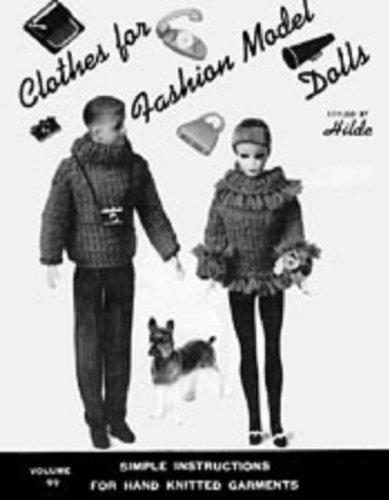 Knit Fashion Model Doll Clothes Knitting Patterns for Fashion Dolls - Vintage Doll Clothing Patterns to Knit