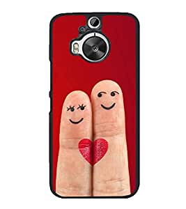 Smiley Fingers 2D Hard Polycarbonate Designer Back Case Cover for HTC One M9 Plus :: HTC One M9+ :: HTC One M9+ Supreme Camera