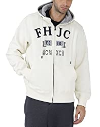 Fahrenheit Men's Fleece Sweat Shirt (8903942224805_White_Large)