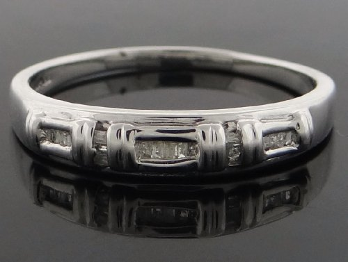 Classic Men's Wedding Band Ring 14k White Gold with 0.25ct Diamonds YG-WB-R196-JGK