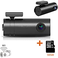 SplashETech Smart Wifi Dash Cam Pro and 32GB TF Card