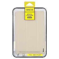 Original Baseus Grace Leather Auto Sleep Wake Flip Stand Case Cover for Xiaomi Mi Pad MiPad- Cream White